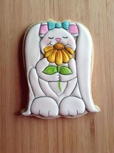 Bunny With Flower looks like it is made with a tulip cookie cutter upside down