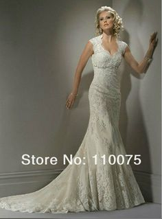 d679aafff1 Free Shipping 2013 NEW STYLE White Ivory Lace Backless Embroidery Mermaid Wedding  Dress Gown Bridal Dress