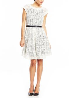 On ideel: AMELIA Cap Sleeve Lace Fit and Flare Dress