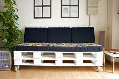 Como fazer um sofá de paletes