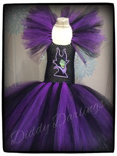 Maleficent Tutu Dress. Inspired Handmade Tutu by DiddyDarlings