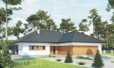 projekt domu M176b Nowe możliwości - wariant II - Murator projekty Outdoor Structures, Cabin, House Styles, Outdoor Decor, Home Decor, Decoration Home, Room Decor, Cabins, Cottage