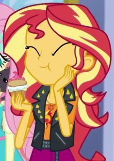 #1585634 - cropped, cute, eating, equestria girls, geode of empathy, puffcake, safe, screencap, shimmerbetes, spoiler:eqg series, sunset shimmer, super squad goals - Derpibooru - My Little Pony: Friendship is Magic Imageboard Girl Friendship, My Little Pony Friendship, Equestria Girls, Girl Cartoon, Cartoon Art, My Little Pony Rarity, My Little Pony Characters, Little Poney, Girls Series
