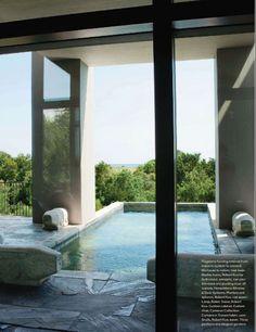 Terrace pool, Kiawah Island home;  Jim Choates