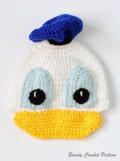 Donald Crochet Hat Pattern by Beauty Crochet Pattern
