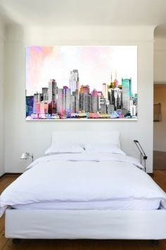Oliver Gal NY Bright Lights Canvas Wall Art