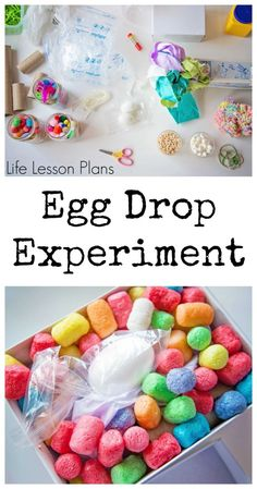Understanding Matter and Energy - Forces Causing Movement Child led egg drop experiment by Life Lesson Plans, part of the Preschool Science, Science Classroom, Science Education, Teaching Science, Science For Kids, Preschool Eggs, Stem Projects, Science Fair Projects, Science Lessons