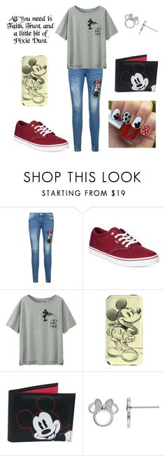 """All you need is ......."" by alicia-brockett ❤ liked on Polyvore featuring Disney, Vans and Uniqlo"