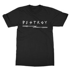 "New drop of Season 4 - ""Destroy"" Shirt Black #barbellrocker #crossfitguys #crossfitfamily #crossfitlife #crossfitter #weightlifting #crossfit #crossfitgames #crossfitters #crossfitcommunity #crossfitlove #crossfitweightlifting #crossfitathlete #crossfitfam #crossfitmotivation #crossfitlifestyle #crossfitfriends #crossfittraining #crossfitlovers #skull #iron #vintage #workout #gym #barbell #flash #destroy"