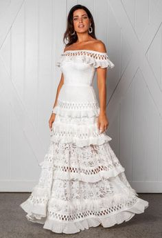 Wedding Dresses Corset Grace Loves Lace Fall 2019 Bridal Collection: Tiered A-line Wedding Dress With Off-the-shoulder Neckline.Wedding Dresses Corset Grace Loves Lace Fall 2019 Bridal Collection: Tiered A-line Wedding Dress With Off-the-shoulder Neckline Best Wedding Dresses, Perfect Wedding Dress, Wedding Gowns, Mexican Wedding Dresses, Wedding Styles, French Wedding Dress, Lace Weddings, Bridal Gowns, Wedding Venues
