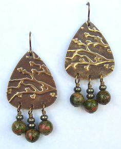Tree branch earrings from Blue Door Beads