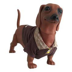 Camiseta gola polo para pet confeccionada em malha de algodão na cor  marrom a6b38afb2b03d