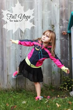Fall Yoga for Kids - safe yoga poses for kids inspired by the season. A rewarding fall themed gross motor activity for inside or outside.