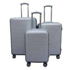 Kemyer Elite 3 Piece Luggage Set Color Silver ** To view further for this item, visit the image link.