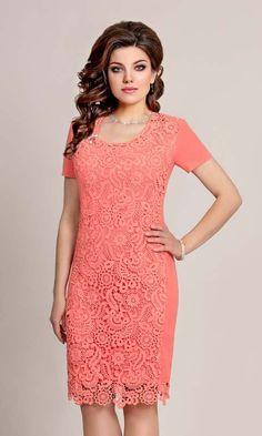 Платья для полных модниц белорусской компании Vittoria Queen, весна-лето 2017