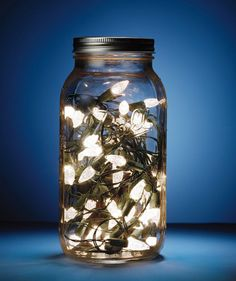Use Mason Jars as Deck Lights A Mason jar makes a magical homemade night light: Fill a large one with a strand or two of battery-powered lights to add whimsy a deck.