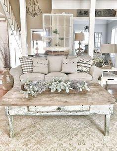 Modern farmhouse living room decor ideas (33)