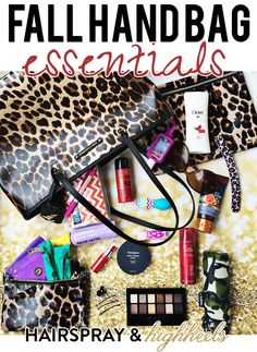 Fall Handbag Essentials - Hairspray and Highheels