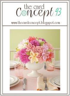 The Card Concept #93 {Floral Centerpiece}