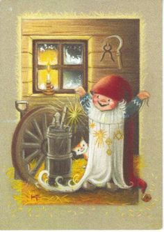 Postcrossing postcard from Finland Christmas Clipart, Christmas Crafts, Christmas Illustration, Illustration Art, Vintage Pictures, Cute Pictures, Troll, Unicorns And Mermaids, Funny Drawings