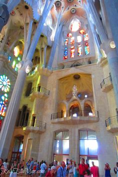 Sagrada Familia in Barcelona, Spain #sagradafamilia #barcelona #spain