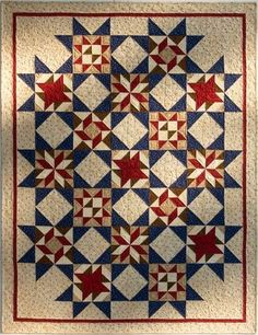 Debbie Mumm: Year Long Sampler Quilt Project 2011 - Debbie Mumm's Stars of Honor Sampler Quilts, Star Quilts, Quilt Block Patterns, Quilt Blocks, Star Blocks, Quilt Sets, Quilting Projects, Quilting Designs, Civil War Quilts
