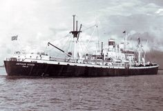 Arthur Stove (ex- Anna H.Branch) at unknown date and location between 1947 and 1955. Owned and operated by Lorentzen Rederi Co. A/S under Norwegian flag and registry.