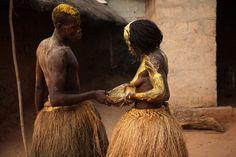 before a voodoo ritual, western Benin, photo by Ann-Christine Woehrl