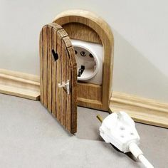 soooo cute, an a really good idea for a kids room to stop little fingers and other objects going into plug sockets