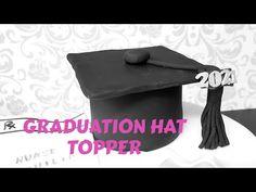 How To Make Graduation Hat Fondant Topper - YouTube Hat Cake, Fondant Cake Toppers, Fondant Tutorial, Cake Creations, Cheers, Congratulations, Graduation, Journey, Hats