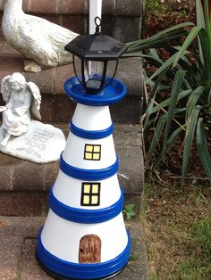 My first light house from clay pots