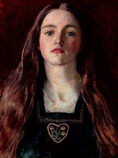 a painting by John Everett Millais - I loved her face & imagined this is how my young Rapunzel might look