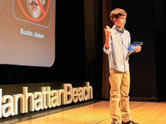 """Thomas Suarez, age 12, taught himself how to create videogames. After developing iPhone apps like """"Bustin Jeiber,"""" a whack-a-mole game, he is now using his skills to help other kids become developers."""