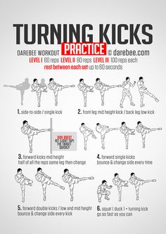 Turning Kicks #Practice #Workout More