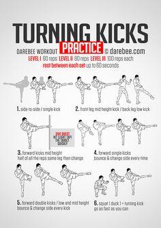Turning Kicks #Practice #Workout