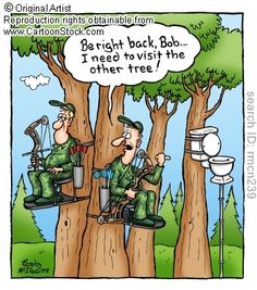 Bow Hunting funny cartoons from CartoonStock directory - the world's largest on-line collection of cartoons and comics. Funny Hunting Pics, Deer Hunting Humor, Hunting Jokes, Deer Hunting Season, Funny Deer, Hunting Pictures, Big Game Hunting, Bow Hunting, Whitetail Hunting