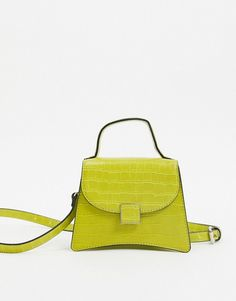 Find the best selection of Who What Wear Bernnan mini bag with cross body strap in lime croc. Shop today with free delivery and returns (Ts&Cs apply) with ASOS! Peridot Jewelry, Green Makeup, Birthstone Necklace, Who What Wear, Mini Bag, Style Guides, Crocs, Saddle Bags, Birthstones