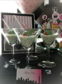 Sex and the city party candy martinis