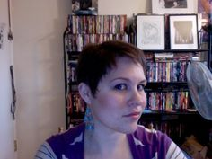 Angle A shorter version of my pixie. I like the way it shapes around my face, but I'd like more hair/volume up top. Pixie Cut, Hairdresser, My Hair, Short Hair Styles, Things I Want, Hair Cuts, Hair Volume, Face, Shapes