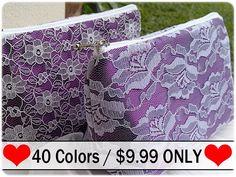 Eggplant purple bridesmaid gift, bridesmaid makeup bag, bridesmaid cosmetic bag - made to order on Etsy, $9.99