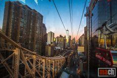 View of Manhattan from Roosevelt Island Tramway,  New York City