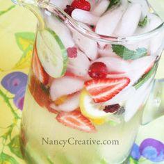 Lemon Mint Cucumber Water (aka Detox Water) | NancyCreative