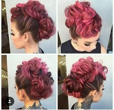 Eye-catching reddish brown faux hairstyle in trends