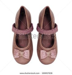 girl shoes isolated on white background