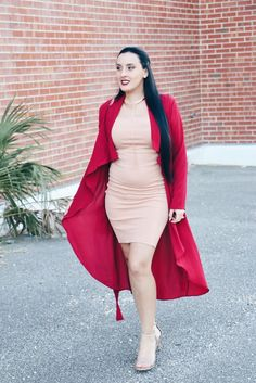 Nude And Red #OOTD