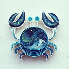 The paper in this cute little crab is evocative of ocean swells.