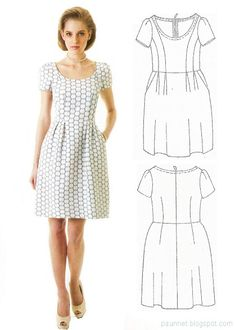 La Mia Boutique looks very anthropologie Simple Dresses, Cute Dresses, Dresses For Work, Sewing Clothes, Doll Clothes, Diy Couture, Diy Fashion, Fashion Design, Miss Dress