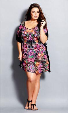 Plus Size Aztec Queen Kaftan - City Chic