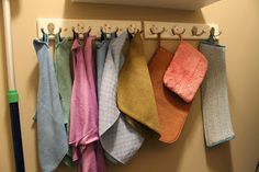 How to hang your Norwex cloths and products to keep them organized!