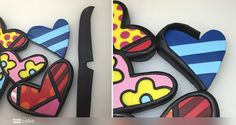 Your Cake. Cake Pop, Creative Food, Projects To Try, Desserts, Fondant Cakes, Cake Designs, Romero Britto, Hearts, Cake Pops